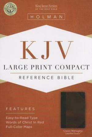 KJV Large Print Compact Reference Bible, Classic Mahogany (Imitation Leather)