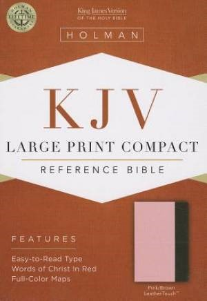 KJV Large Print Compact Reference Bible, Pink/Brown (Imitation Leather)