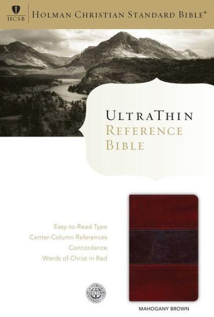 HCSB Ultrathin Reference Bible, Mahogany, Indexed (Imitation Leather)