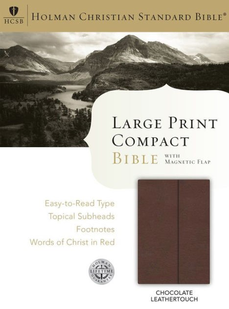 HCSB Large Print Compact Bible, Chocolate Leathertouch (Imitation Leather)