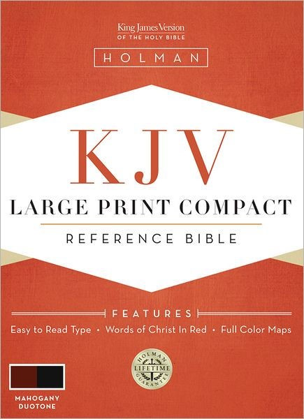 KJV Large Print Compact Reference Bible, Mahogany (Imitation Leather)