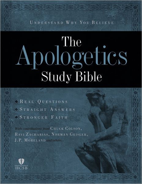 Apologetics Study Bible, Black Genuine Leather (Leather Binding)