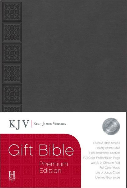 KJV Gift Bible, Gray Leathertouch Premium Edition (Imitation Leather)