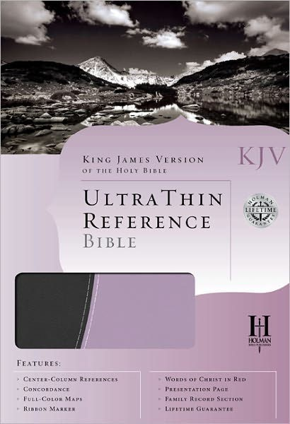 KJV Ultrathin Reference Bible, Gray/Periwinkle Leathertouch (Imitation Leather)