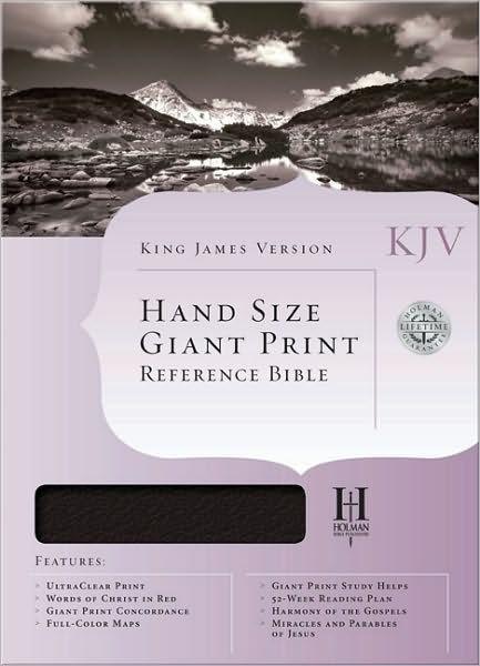 KJV Hand Size Giant Print Reference Bible, Burgundy (Genuine Leather)