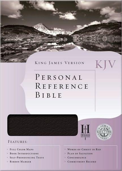 KJV Personal Reference Bible, Black Bonded Leather (Bonded Leather)
