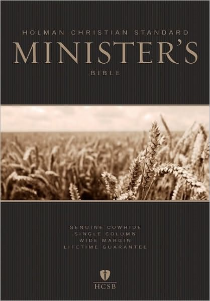 HCSB Minister's Bible, Black Genuine Leather (Leather Binding)