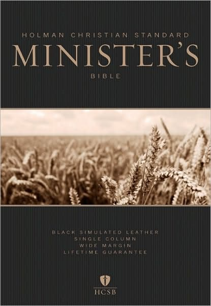 HCSB Minister's Bible, Black Leathertouch (Imitation Leather)