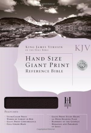 KJV Hand Size Giant Print Reference Bible, Brown/Tan (Imitation Leather)