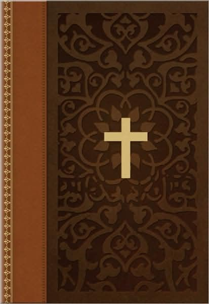 KJV Large Print Compact Bible, Brown/Tan Leathertouch (Imitation Leather)