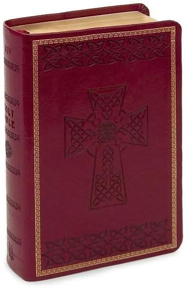 KJV Large Print Compact Bible, Burgundy Imitation Leather (Imitation Leather)