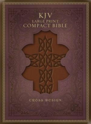 KJV Large Print Compact Bible, Brown Imitation Leather (Imitation Leather)