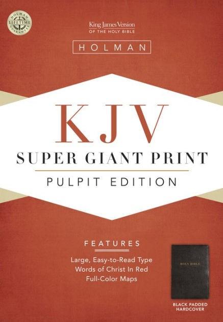 KJV Pulpit Bible, Black Padded Hardcover (Hard Cover)
