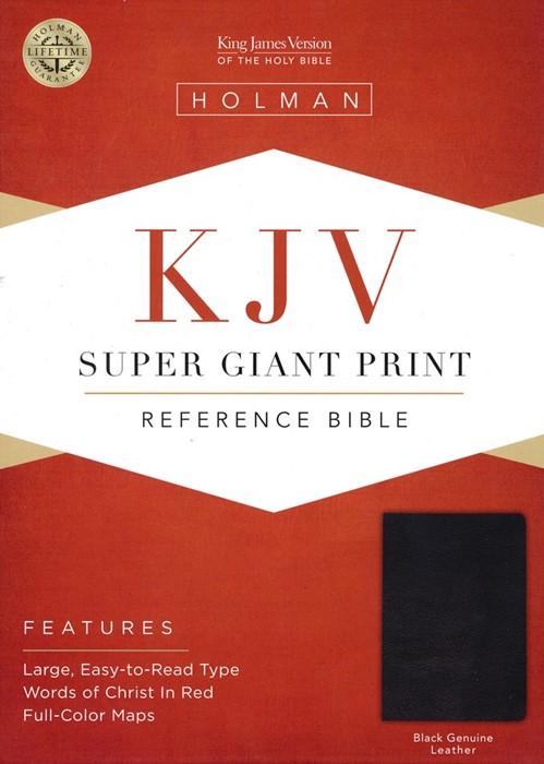 KJV Super Giant Print Bible Black Leather Indexed (Leather Binding)