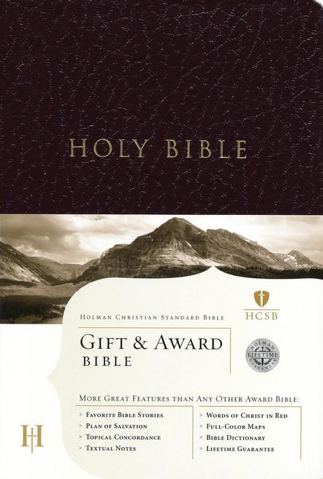 HCSB Gift & Award Bible, Burgundy Imitation Leather (Imitation Leather)