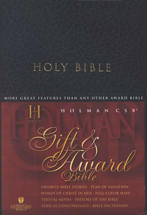HCSB Gift & Award Bible, Black Imitation Leather