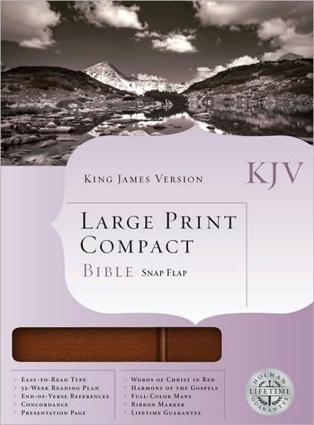 KJV Large Print Compact Bible, Chestnut