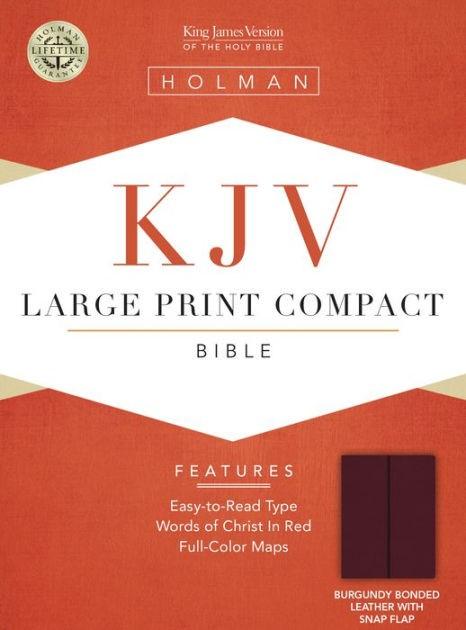 KJV Large Print Compact Bible, Burgundy Bonded Leather (Bonded Leather)