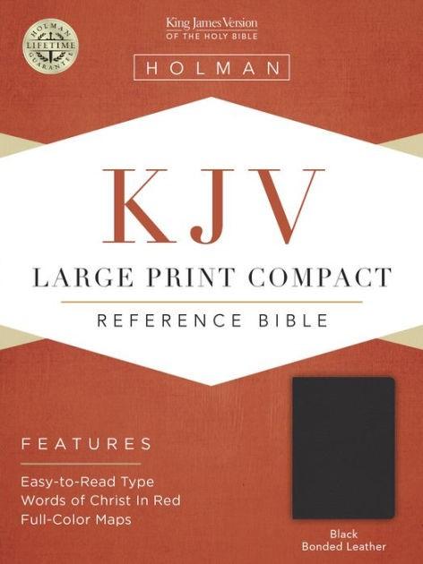 KJV Large Print Compact Bible, Black Bonded Leather (Bonded Leather)