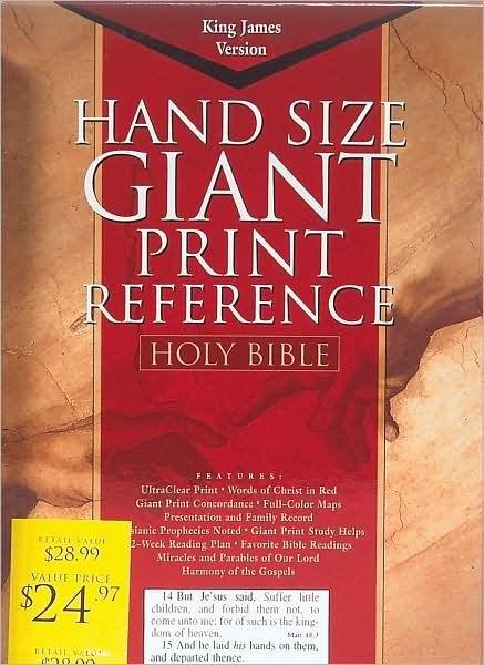 KJV Giant Print Reference Bible, Black, Indexed