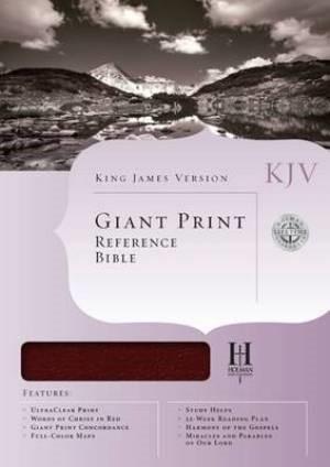 KJV Giant Print Reference Bible, Burgundy Bonded Leather (Bonded Leather)