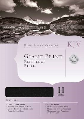 KJV Giant Print Reference Bible, Black Bonded Leather