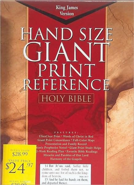 KJV Giant Print Reference Bible Burgundy, Indexed