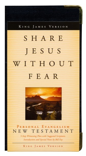 KJV New Testament, Share Jesus Without Fear (Bonded Leather)