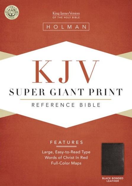 KJV Super Giant Print Reference Bible, Black Bonded Leather (Bonded Leather)