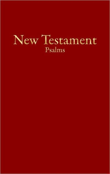 KJV Economy New Testament With Psalms, Burgundy (Imitation Leather)
