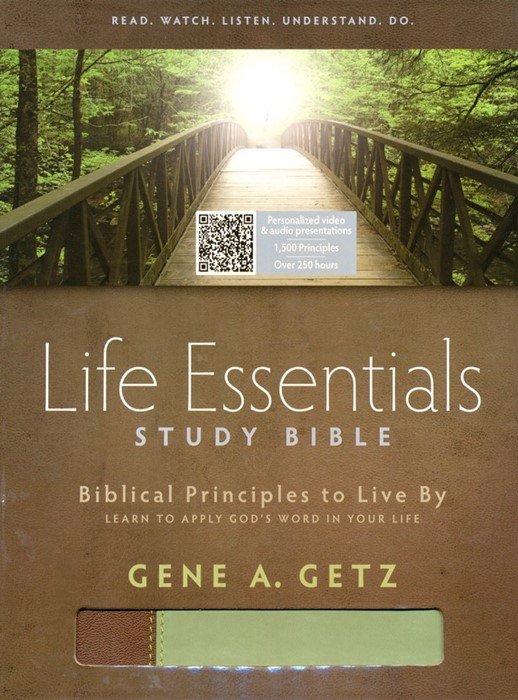HCSB Life Essentials Study Bible Brown / Green (Imitation Leather)