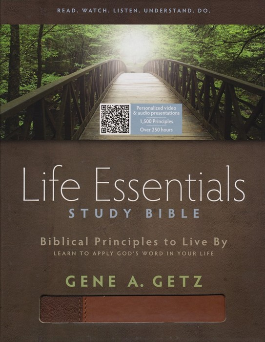 HCSB Life Essentials Study Bible, Brown Indexed (Imitation Leather)