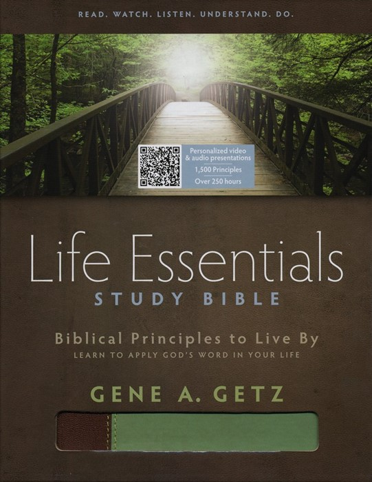 HCSB Life Essentials Study Bible, Brown / Green Indexed (Imitation Leather)