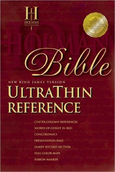 NKJV Ultrathin Reference Bible, Black, Indexed (Bonded Leather)