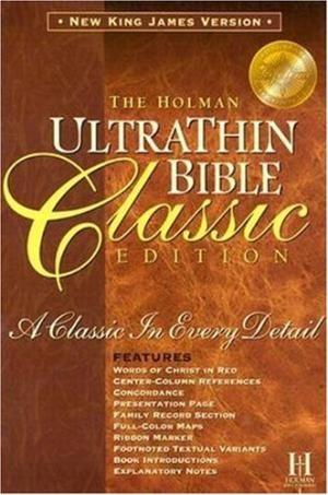 NKJV Ultrathin Classic Slide Tab Bible, Black (Bonded Leather)