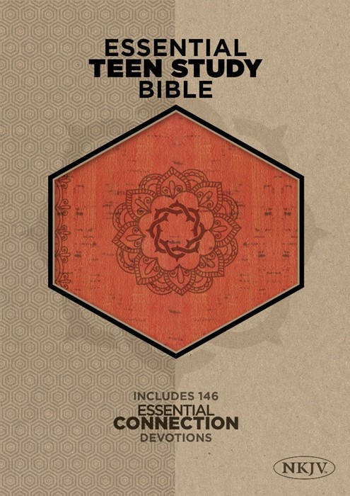 NKJV Essential Teen Study Bible, Orange Cork (Imitation Leather)