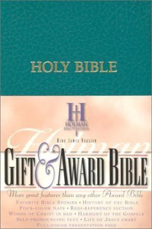 KJV Gift & Award Bible, Teal Imitation Leather (Imitation Leather)