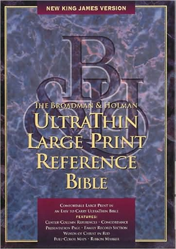NKJV Large Print Ultrathin Reference Bible, Hunter Green (Bonded Leather)