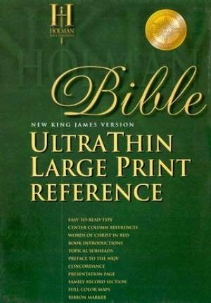 NKJV Large Print Ultrathin Reference Bible, Burgundy Bonded (Bonded Leather)