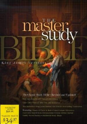 KJV Master Study Bible, Burgundy Bonded Leather Indexed (Bonded Leather)