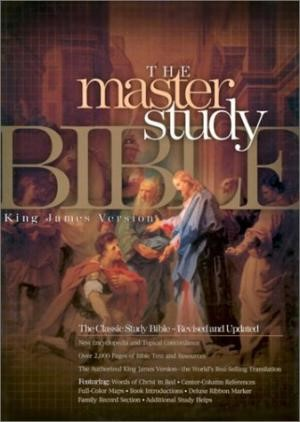 KJV Master Study Bible, Black Bonded Leather Indexed (Bonded Leather)