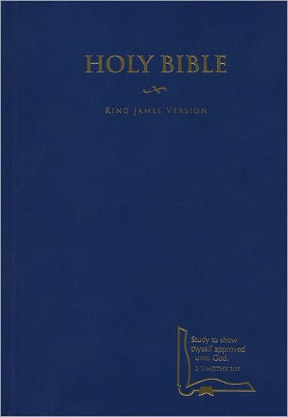 Kjv Drill Bible, Blue Hardcover (Hard Cover)