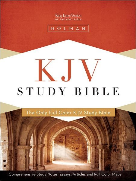 KJV Study Bible, Black Genuine Leather Indexed (Leather Binding)