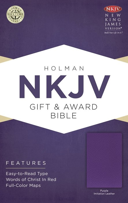 NKJV Gift & Award Bible, Purple Imitation Leather (Imitation Leather)