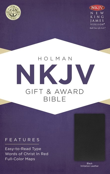 NKJV Gift & Award Bible, Black Imitation Leather (Imitation Leather)