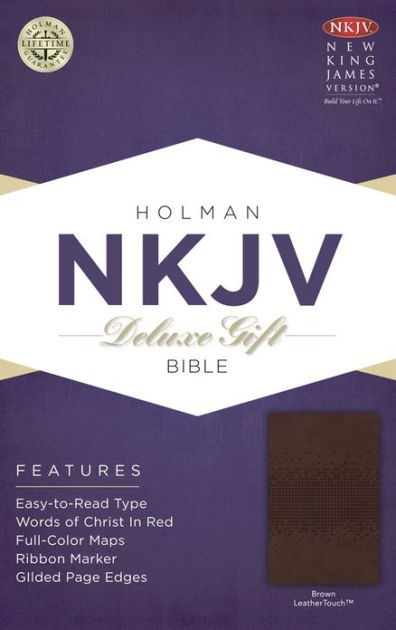 NKJV Deluxe Gift Bible, Brown Leathertouch (Imitation Leather)