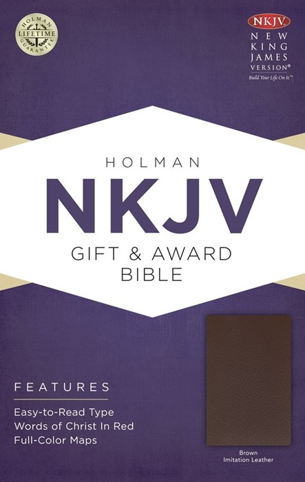 NKJV Gift & Award Bible, Brown Imitation Leather (Imitation Leather)