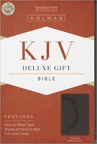 KJV Deluxe Gift Bible, Charcoal Leathertouch (Imitation Leather)