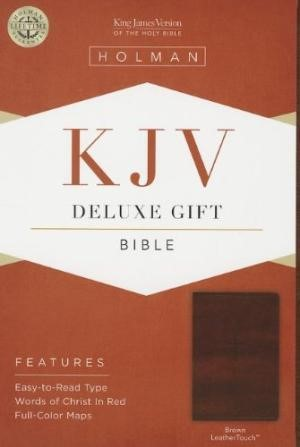 KJV Deluxe Gift Bible, Brown Leathertouch (Imitation Leather)