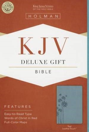 KJV Deluxe Gift Bible, Teal Leathertouch (Imitation Leather)